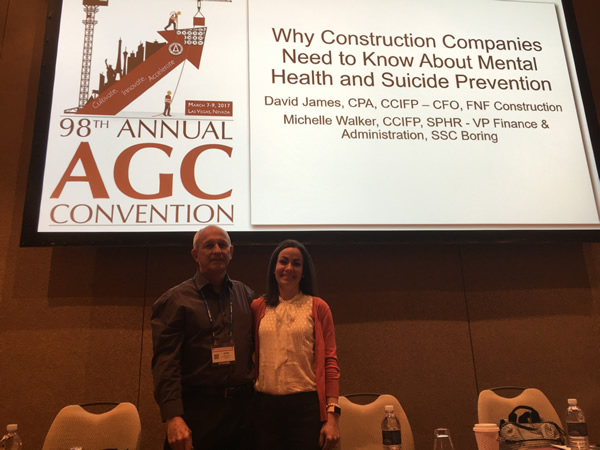 Michelle Walker, SSC's VP of Finance & Administration, had the opportunity to present at the Associated General Contractor (AGC) Conference
